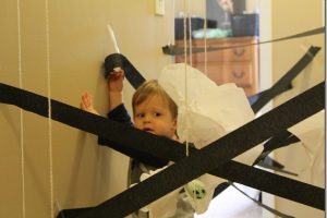 Halloween Fun: Spider Webs and Ghosts
