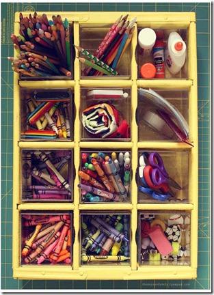 solutions to organize kids art supplies. Black Bedroom Furniture Sets. Home Design Ideas