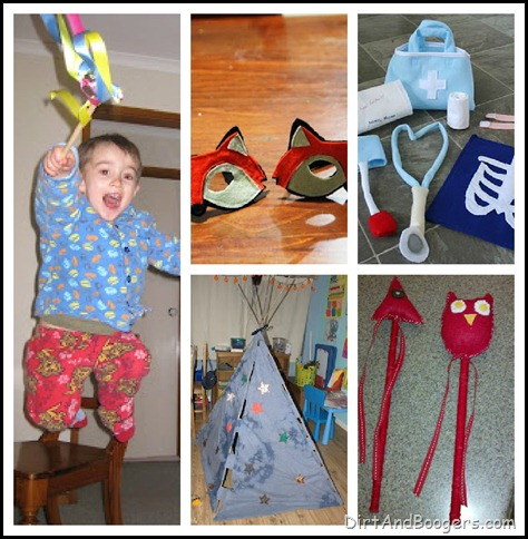Dress up, Pretend Play, Homemade Toys, DIY Toys, Kids