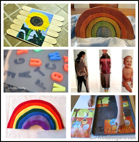 puzzles, handmade toys, diy toys, kids