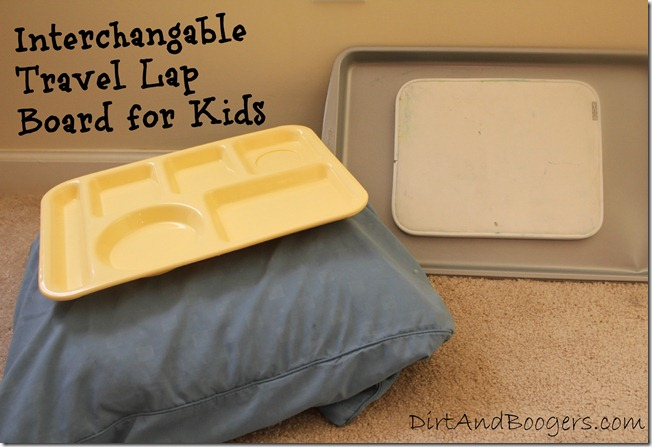 Interchangable Travel Lap Board for Kids
