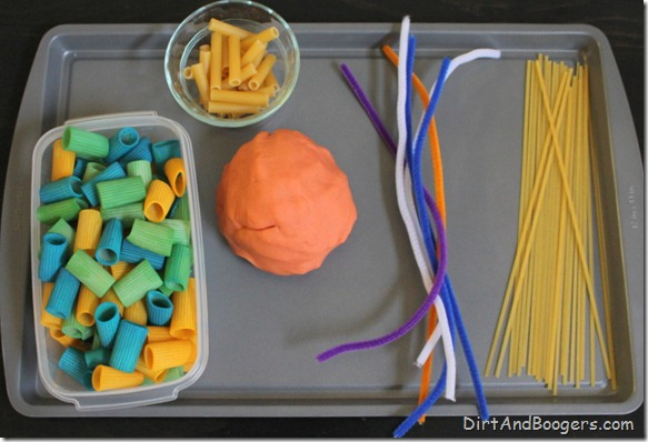 Invitation to Play: Pasta and Playdough