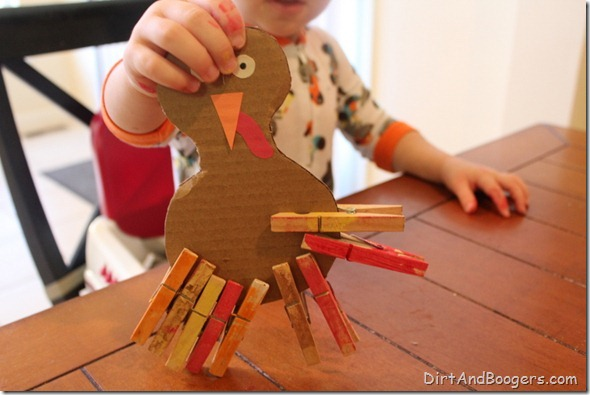 Thanksgiving, toddler, craft, fine motor, paint