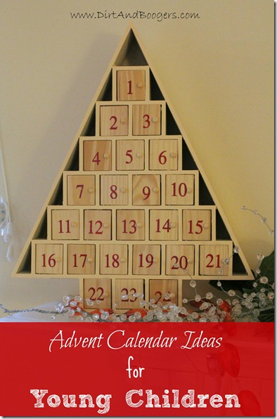 Advent Calendar for Young Children, holidays, toddlers, preschoolers