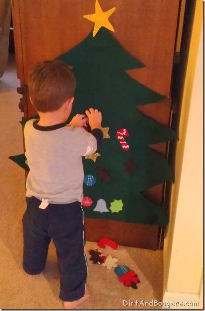 felt christmas tree, christmas, holidays, children, kids