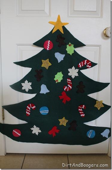 felt christmas tree, children, kids,