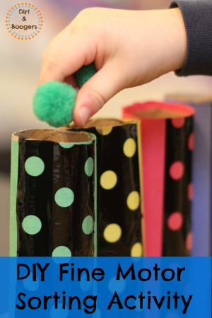 DIY Fine Motor Sorting Activity for Kids