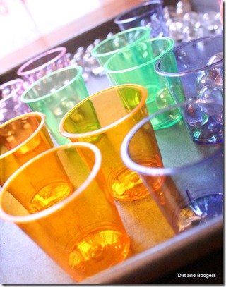neon cups, marbles, toddler play, activities