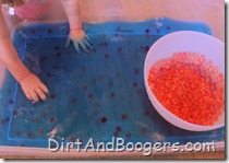 water beads, water, sensory play
