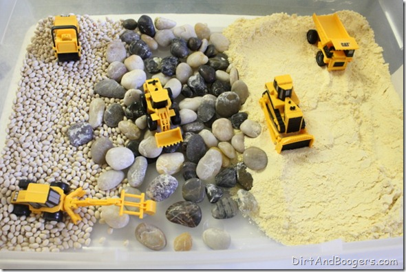 construction site, small world, invitation to play