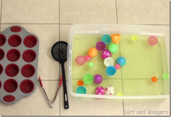Easter egg matching game, preschool play