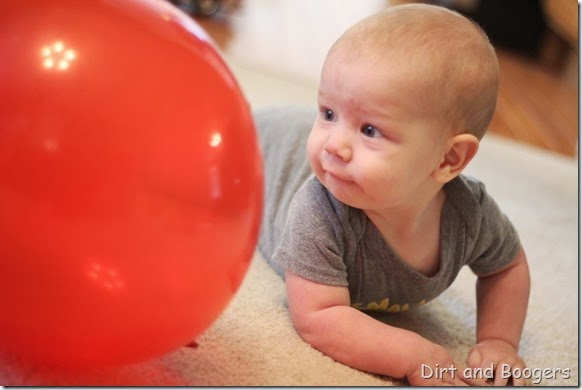 Baby Play with Ballons