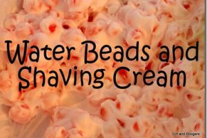 Water Beads and Shaving Cream: 2 Messes in 1!