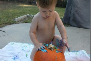 Fall Fun: Painting Pumpkins