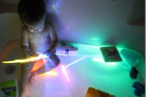 Bath Time Fun: Glowsticks
