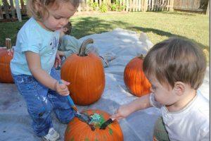 Painting Pumpkins….Playdate Style!
