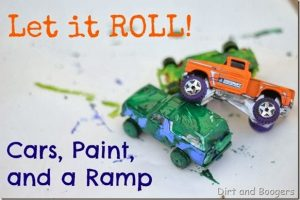 Let it ROLL! Cars, Paint, and a Ramp