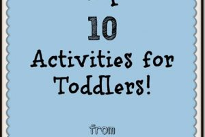 Top 10 Activities for Toddlers