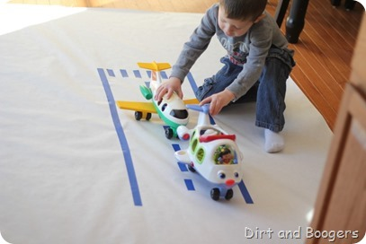 Make an Airplane Runway for Kids