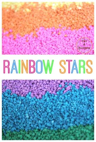 Create Rainbow Stars for Sensory Activities