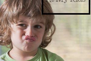 The Strangest Reason I Yell at My Kids