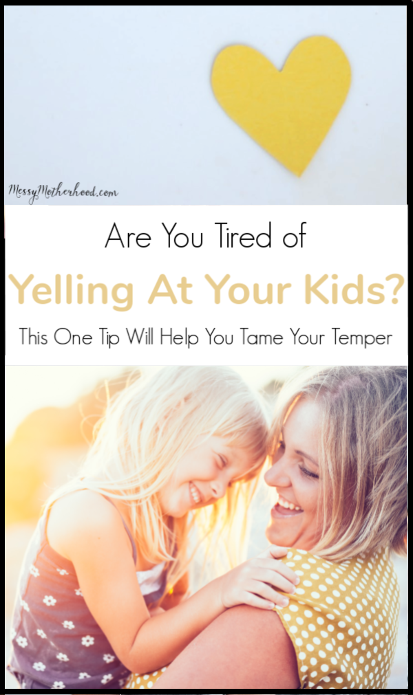 Learn patience and how to control your temper and stop yelling at your kids with this one ninja-tip