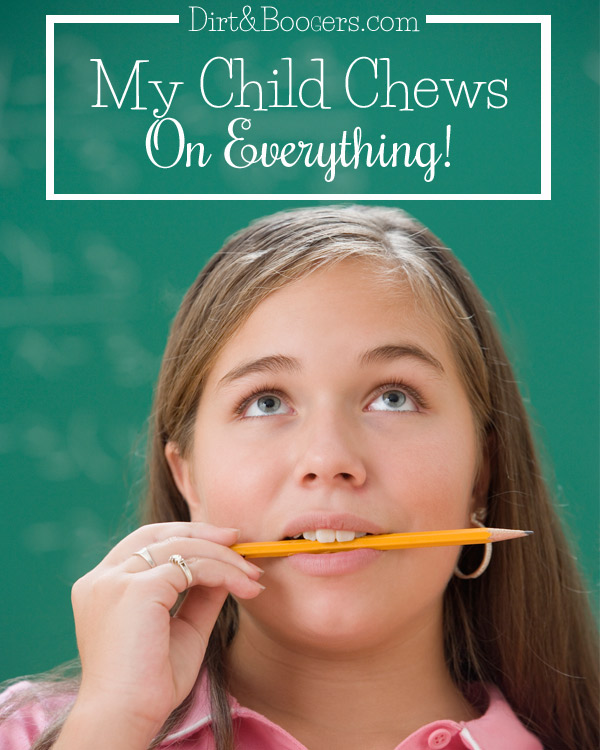 WHY children chew on everything and a few tips that might help.