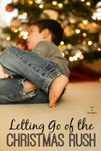 The holidays can be stressful with all the Christmas baking, decorating, and events, it can get a bit overwhelming.  This is a great way to let it all go and just enjoy the holidays with your family.