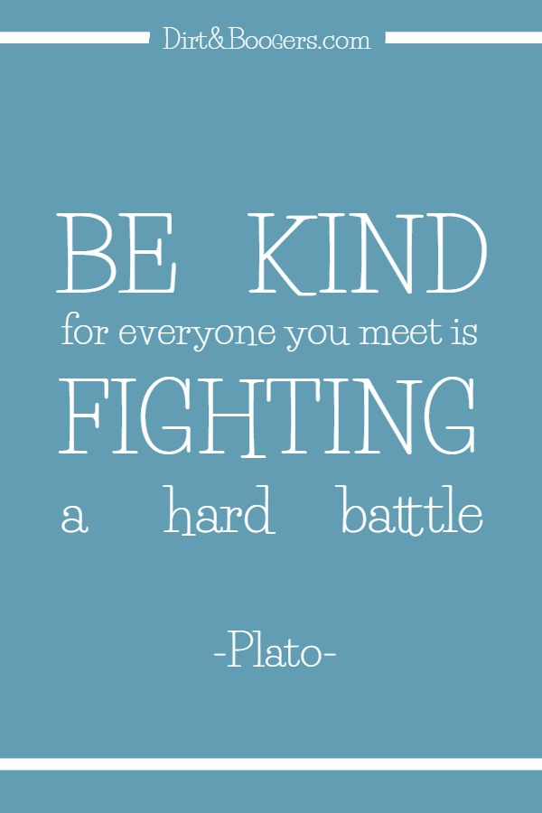 Learning to be kind, even to those who have it easier than you do.