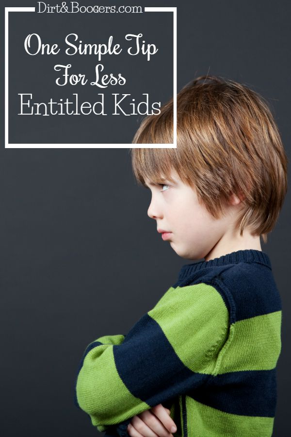 Raising kids in an entitled world can be hard.  Here's one tip that will keep your kids from growing into an entitled teenager and adult.  It really works!