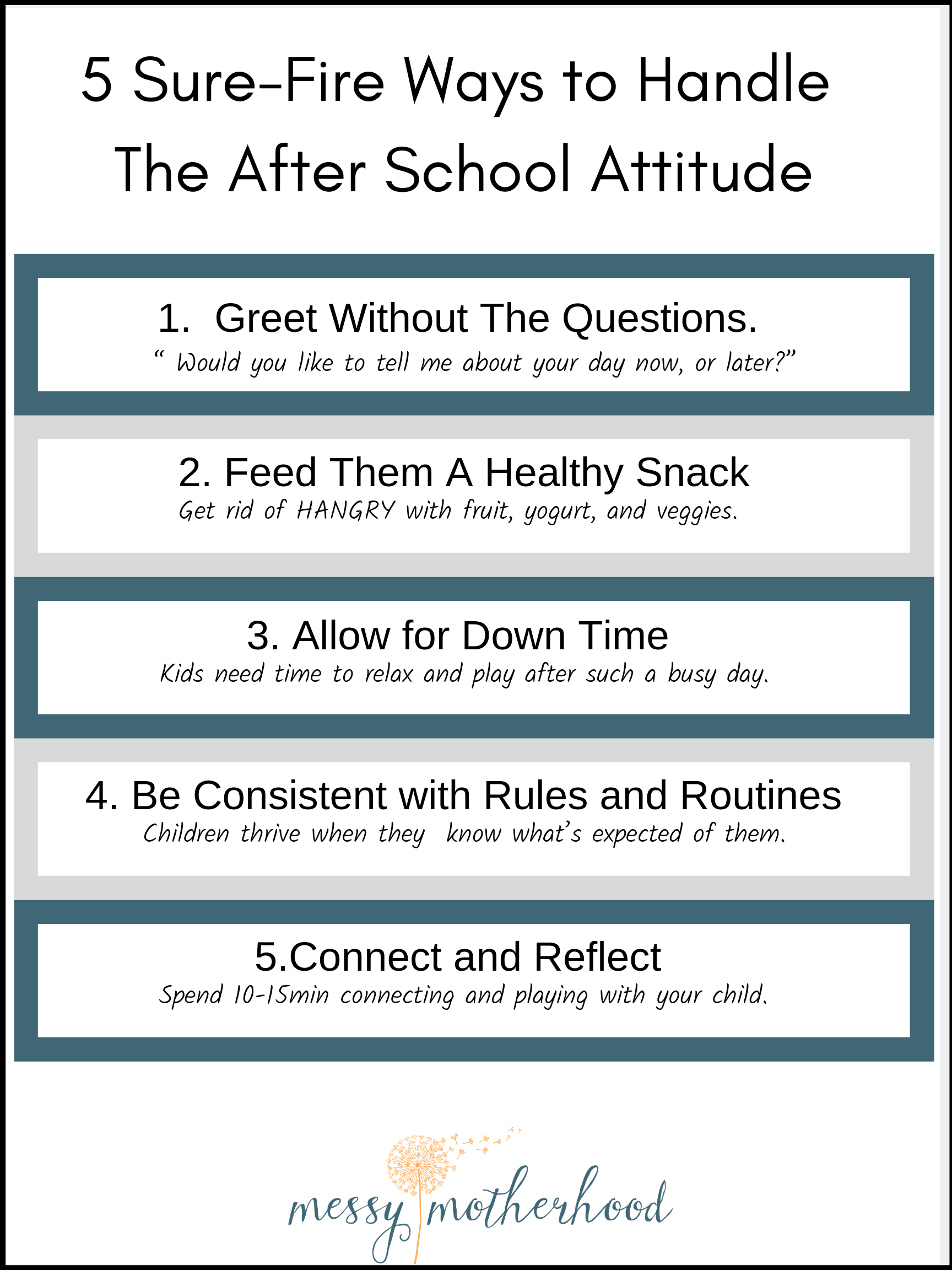 5 Sure-Fire Ways To Stop The After School Attitude