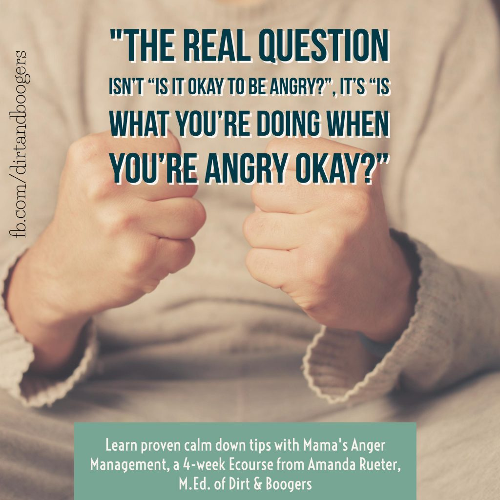 The real question isn't is it okay to be angry? Is what you're doing with your anger ok?