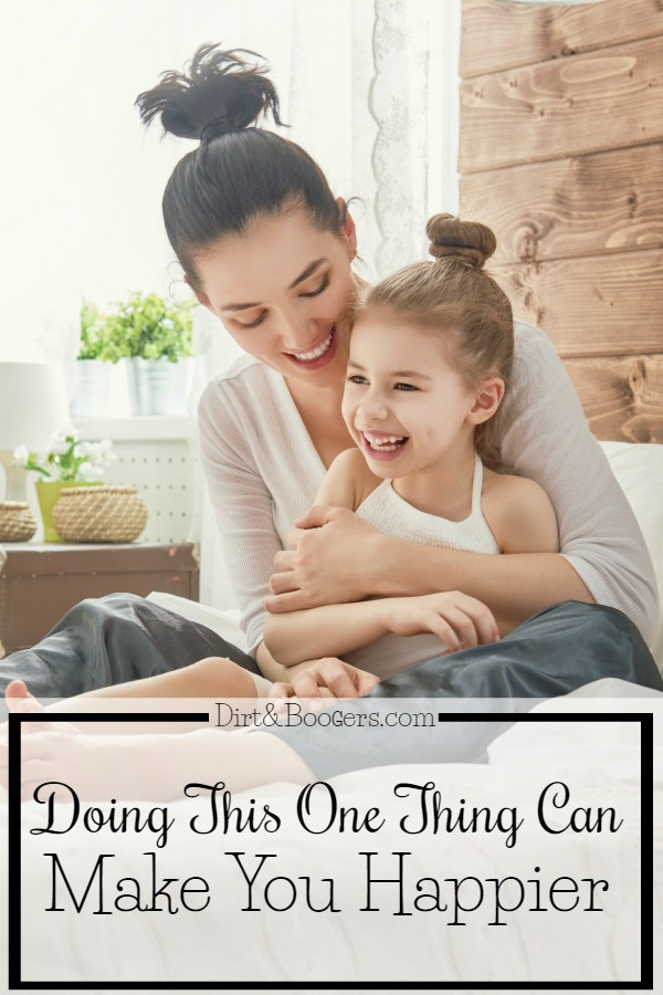 Scientific evidence proves that by doing this one thing, people can live happier lives. This is especially good for Moms.
