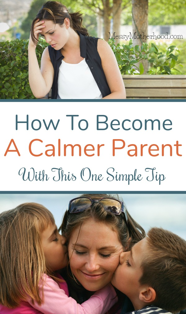 Sometimes we get angry at our children.  Hey, it happens.  Here's one simple tip to help you stay calm when you want to explode.