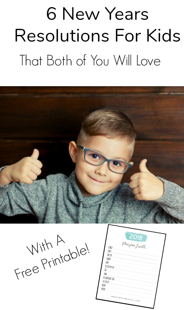 New Years Resolutions For Kids Can Be Fun! This new years resolution printable makes it so easy too!