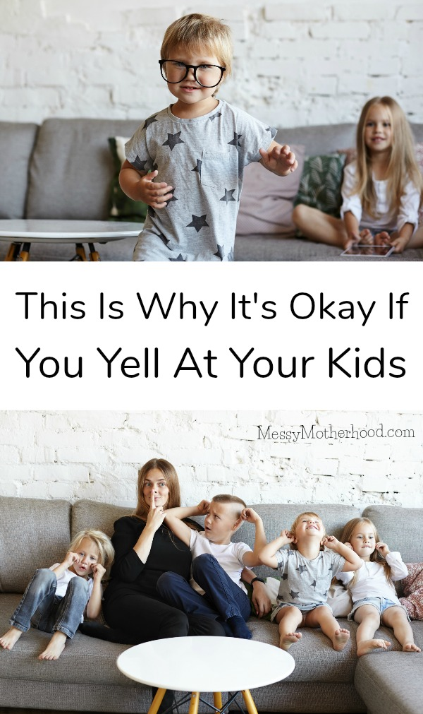 So many parents feel such heavy guilt for yelling at their kids, but this post explains why it's okay if you yell from time to time.