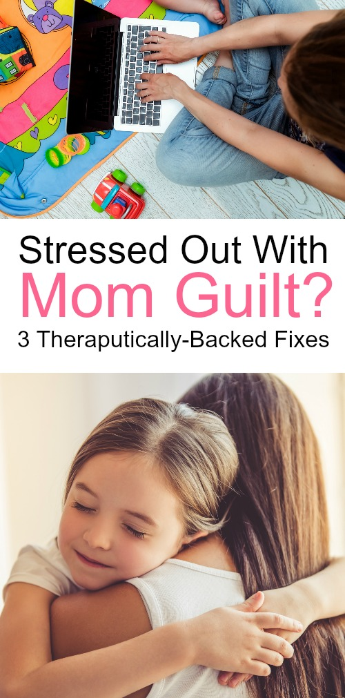 Negative self-talk is the reason why moms feel so much guilt. It's time to banish the mom guilt with these three tips.