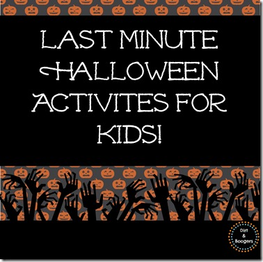 Last Minute Halloween Activities for Kids