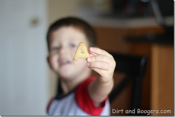 Alphabet Cookies:  a great way to practice letters