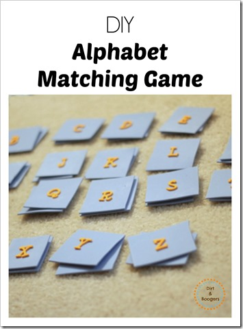 DIY Alphabet Matching Game